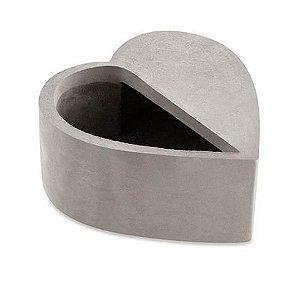 Cachepot Coração Cinza em Cimento