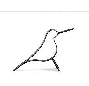 Pássaro em Metal Preto M