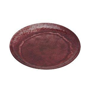 Jogo Prato de Sobremesa Vermelho