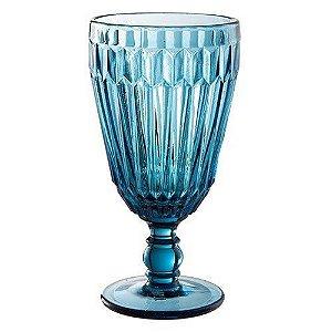 Jogo 6 Taças em Vidro Azul