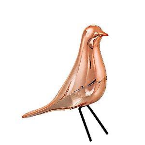 Pássaro Cerâmica Rose Gold