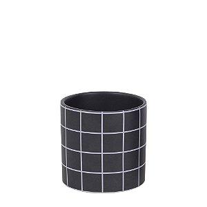Cachepot Grid Preto G