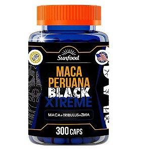 Maca Peruana Black Extreme 300cáps Sunfood Maca + Tribulus + Zma