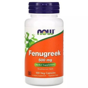 Fenugreek 500 mg (100 Cápsulas) - NOW Foods