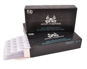 Caixa de Agulhas - Aston - Bucha Round Shader c/ 50 unidades