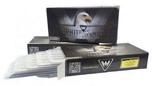 Caixa de Agulhas - White Head - Bucha Round Shader c/ 50 unidades