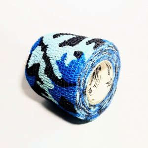 Bandagem Fita Adesiva Auto Aderente - Aston - Camuflada Azul