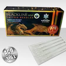 Caixa de Agulhas- BlackLine Gold - Traço c/ 50 unidades