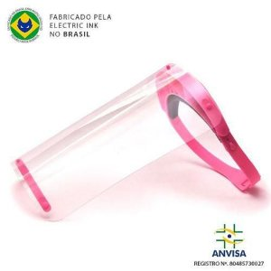 Máscara Face Shield 240mm Pink - Electric Ink