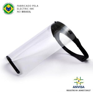 Máscara Face Shield 240mm Preta - Electric Ink