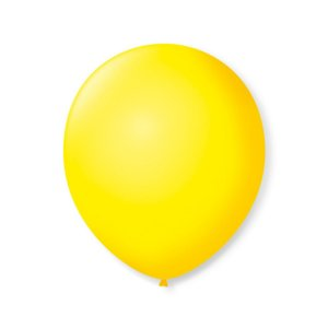 Balão liso nº9 Amarelo Citrino com 50 unid.