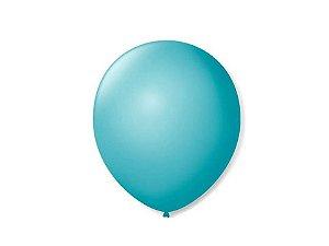 Balão liso nº9 Azul Oceano com 50 unid.