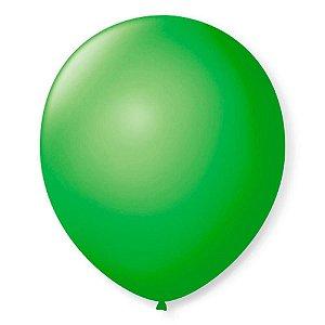 Balão liso nº9 Verde Maçã com 50 unid.