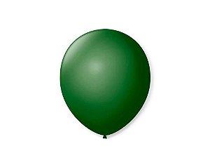 Balão liso nº9 Verde Folha com 50 unid.