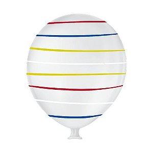 Balão Gigante liso Arco Iris Branco Polar