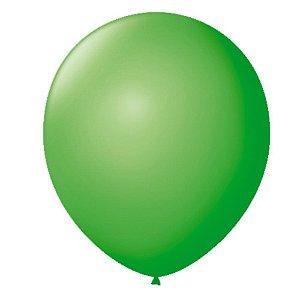 Balão liso nº7 Verde Maçã com 50 unid.