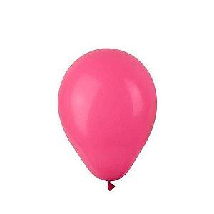 Balão liso nº5 Rosa Pink com 50 unid.