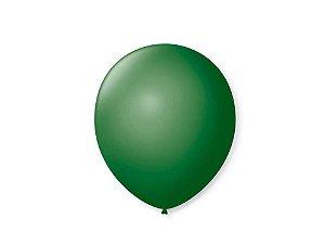 Balão liso nº7 Verde Folha com 50 unid.