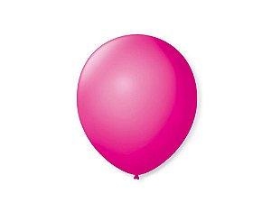 Balão liso nº7 Rosa Tutti Frutti com 50 unid.