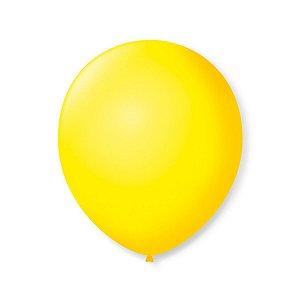 Balão liso nº7 Amarelo Citrino com 50 unid.