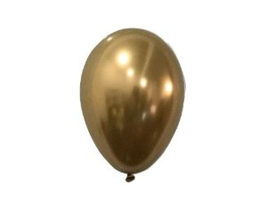 Balão Dourado Metalizado N°9 com 25 unid.