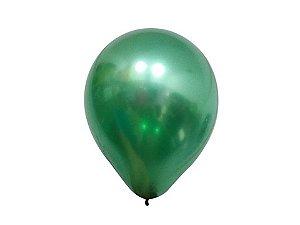 Balão Verde 5 Metalizado Balloon com 25 unid.