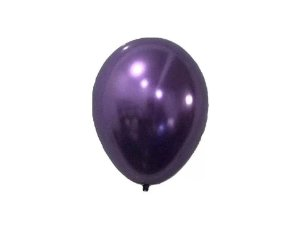 Balão Roxo nº5 Metalizado Balloon com 25 unid.