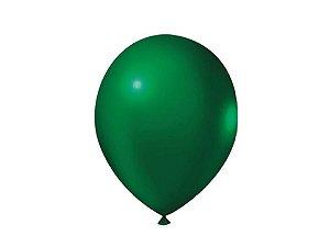 Balão Verde Militar Liso Nº7 com 50 unid.