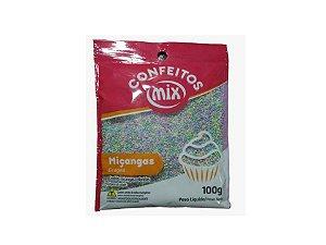 Confeito Miçanga Candy Colors 100g Mix