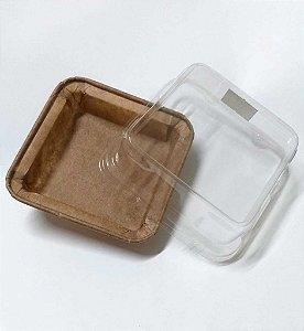 Forma descartável forneavel para Brownie com tampa com 5 unidades