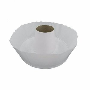 Forma descartável forneável para Torta Suiça branca 15x6 com 100 unid.