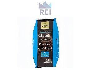 Chocolate em pó 31,7% Callebaut 1kg