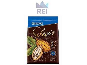 Chocolate Meio Amargo em gotas Seleção 52% Sicao 2,05kg