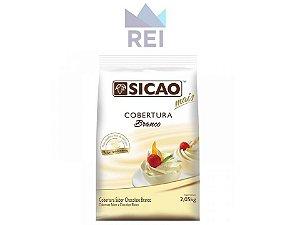 Cobertura Chocolate Fracionado Branco em Gotas Sicao 2,05kg