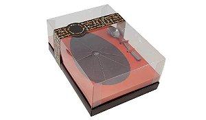 Caixa para Ovo de Páscoa c/ colher Orange 500g
