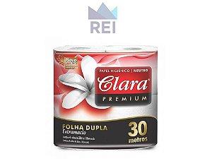 Papel Higiênico Folha Dupla com 4 rolos com 30Mts Clara