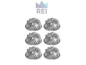 Forma Mini Vulcão em Alumínio com 6 unidades