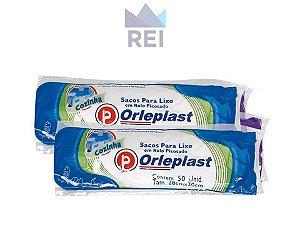 Saco de Lixo Rolo 28cmx30cm 2,5Lt Branco com 50 unidades Orleplast