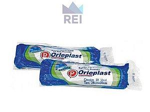Saco de Lixo Rolo 34cmx40cm 5Lt Branco com 50 unidades Orleplast