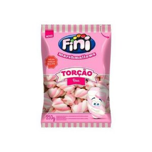 Marshmallow Torção Rosa 250g Fini