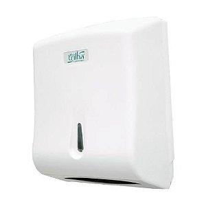 Dispenser de Papel Toalha Interfolhado Branco Trilha