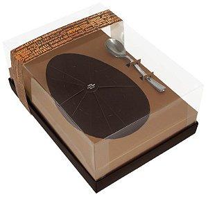 Caixa para Ovo de Páscoa c/ colher Bronze 500g