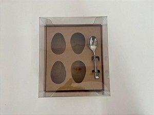Caixa Ovo de Colher 4 de 50g Kraft Stylus Curifest