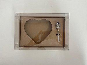 Caixa de Ovo de Colher Coração 500g Kraft Stylus