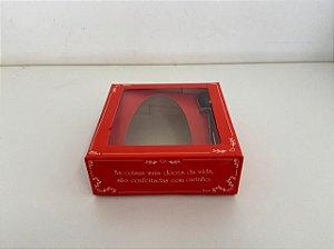 Caixa para Meio Ovo de Páscoa com colher Clássica Red 250g