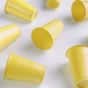 Copo descartável Festinha 200ml Amarelo pacote com 50 unid. Copobras