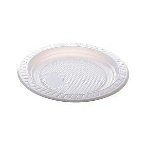 Prato descartável Branco 15cm pacote com 10 unid. Copobras
