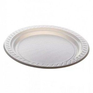 Prato descartável Branco 17,5cm pacote com 10 unid. Copobras