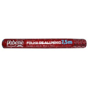 Papel Alumínio 30cmX7,5m Vabene