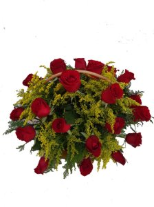 Arranjo com 24 Rosas Vermelhas